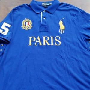 Polo By Ralph Lauren Paris Custom Fit  Polo Shirt